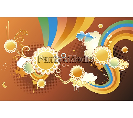 vector illustration of funky styled design