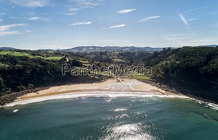spain asturias aerial view of beach