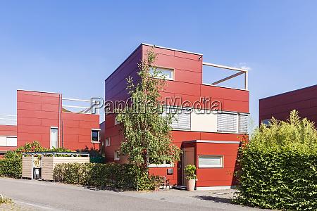 germany karlsruhe modern cubical houses in