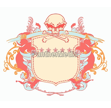 vector illustration of heraldic shield or