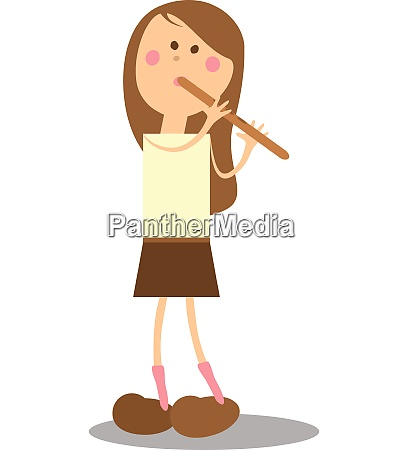 vector girl musicant 15