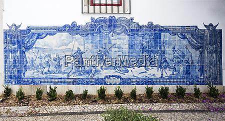 tiles of the belvedere of santa