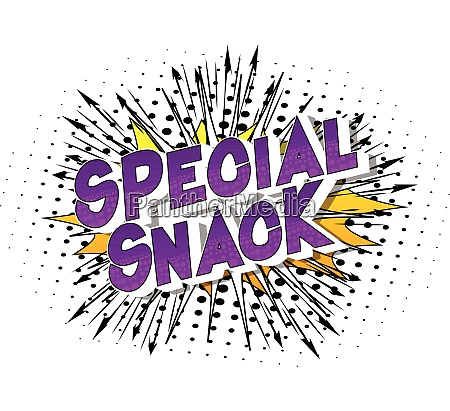 special snack comic book style