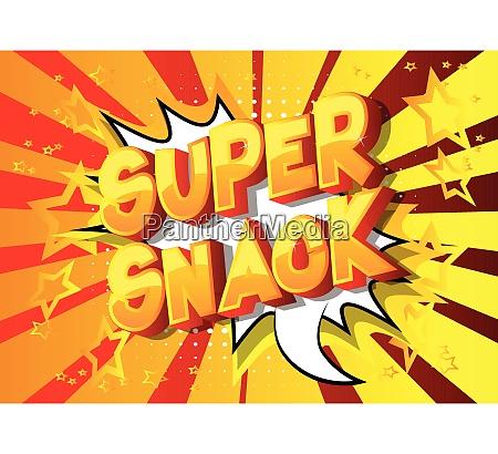super snack comic book style