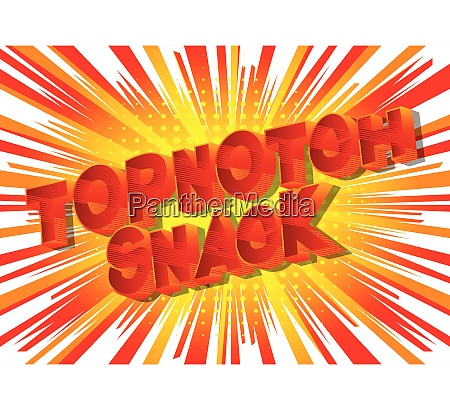 topnotch snack comic book style