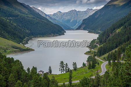 the gepatsch reservoir formed by a
