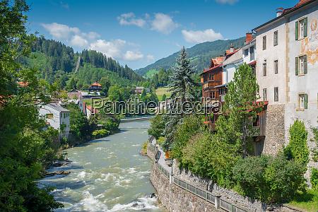 riverside scenery in murau murau is