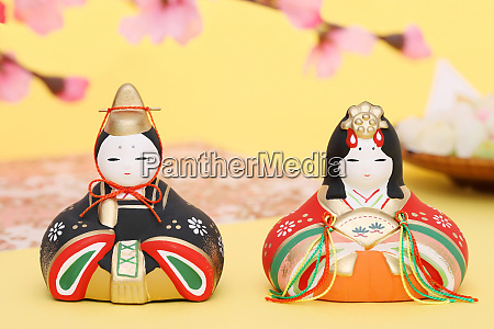 traditional japanese dolls used for a
