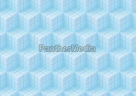 full frame abstract stepped cube pattern