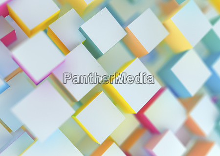 abstract multi layered cube pattern