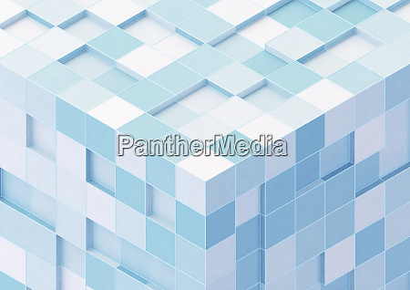 corner of large cube formed from