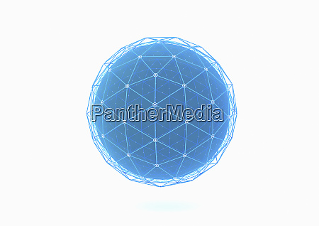 sphere covered in network grid pattern