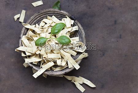 herb tagliatelle with basil
