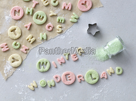 the words winter wonderland cut out