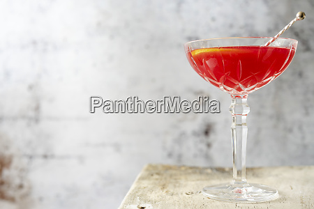 a jack rose cocktail made with
