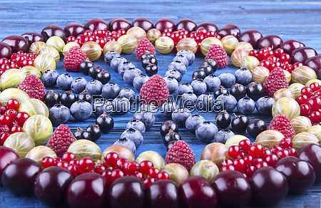 ornament of assorted fruits and berries