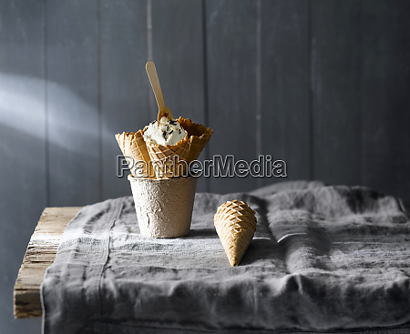 beautiful composition of ice cream cones