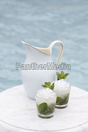 mojitos on the edge of a