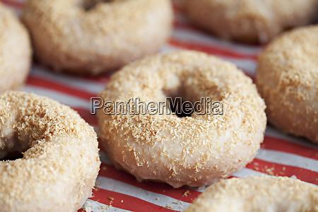 decorated delicious doughnuts