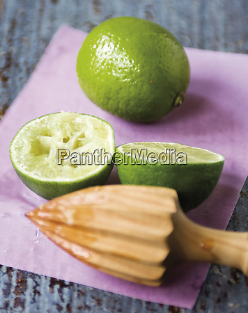 cut lime and whole one with