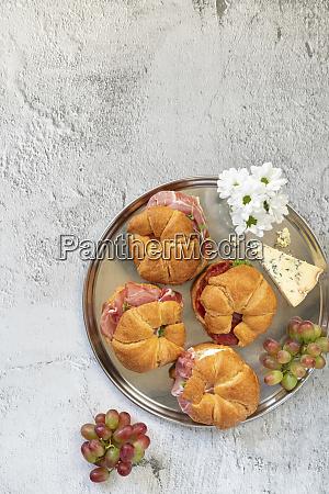 croissants with ham