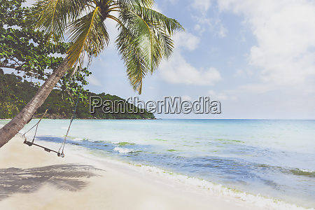 vietnam phu quoc beach swing on