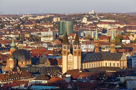 germany bavaria wuerzburg cityview wuerzburg cathedral