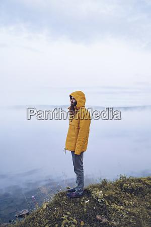 sweden lapland man with full beard