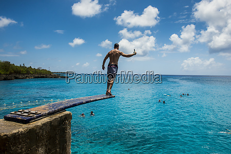 carribean colombia san andres man on