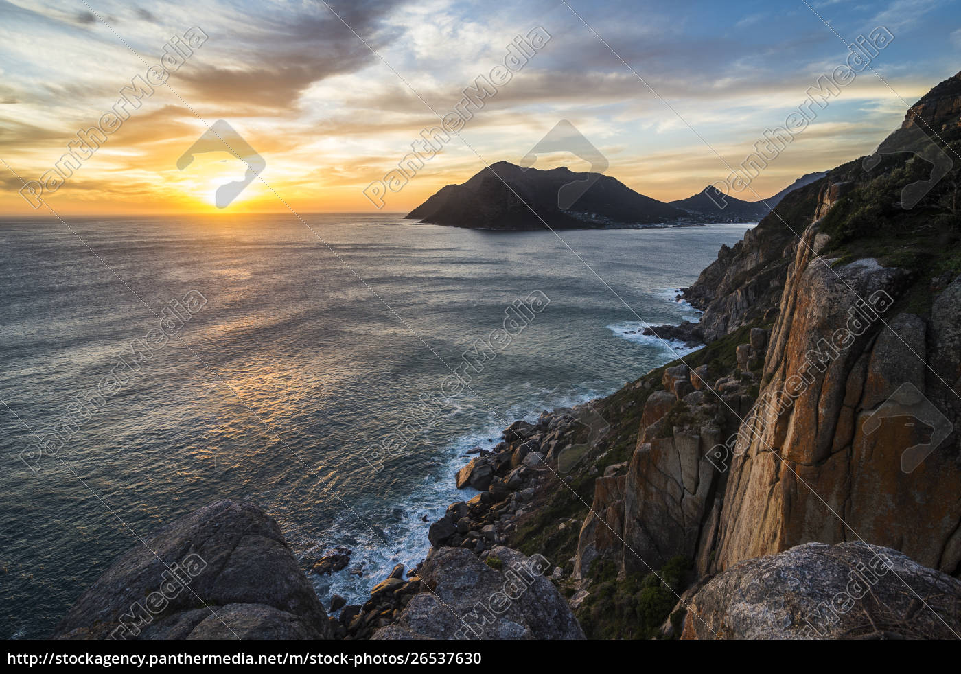 south, africa, , sunset, over, hout, bay, - 26537630