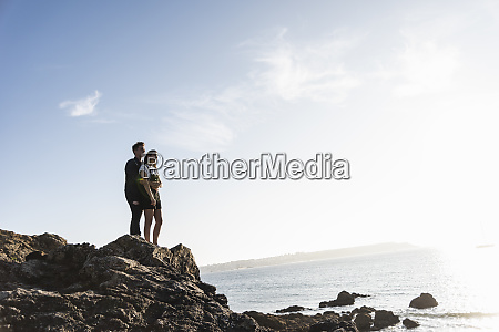 france brittany young couple standing on