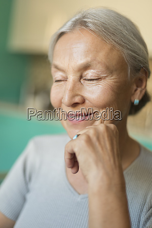 portrait of smiling senior woman with