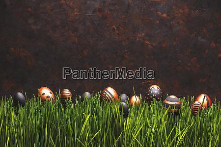 black and golden easter eggs i