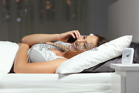 woman talking on phone in the