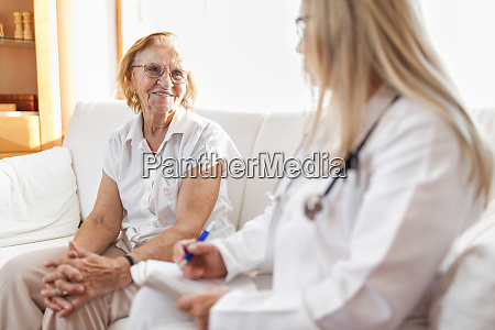 senior woman during a medical exam