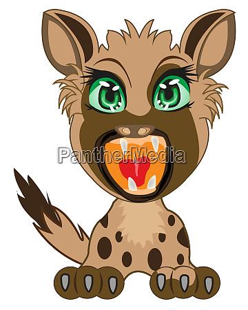 cartoon of the wildlife hyena on