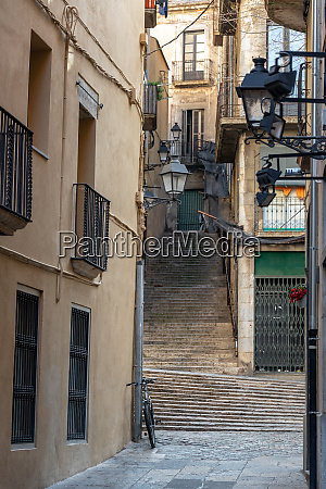 old architecture in girona spain