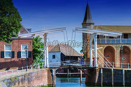 double drawbridge in netherlands zierikzee