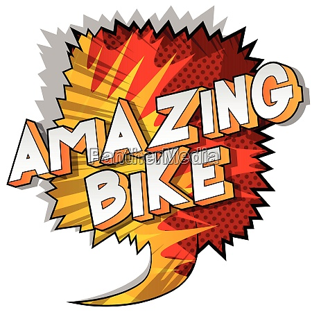 amazing bike comic book style