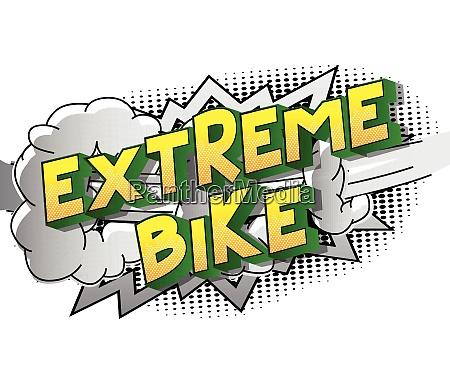 extreme bike comic book style