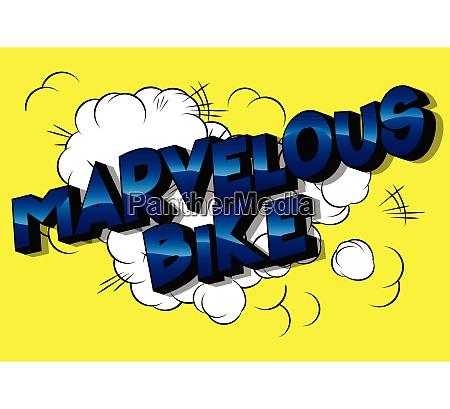 marvelous bike comic book style
