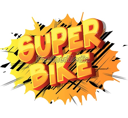 super bike comic book style