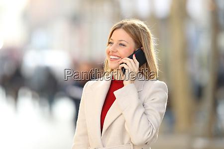 woman having a phone talk in