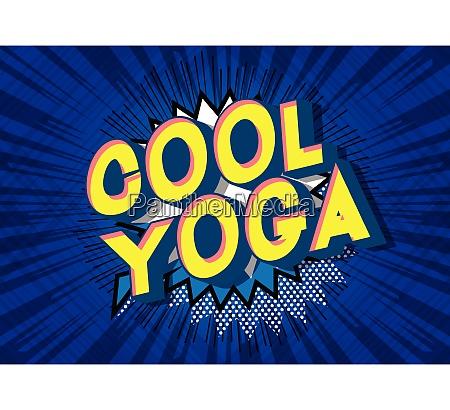 cool yoga comic book style