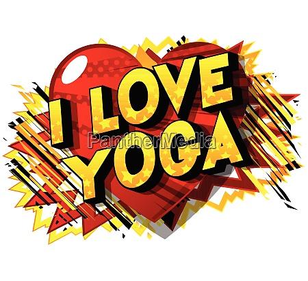 i love yoga comic book