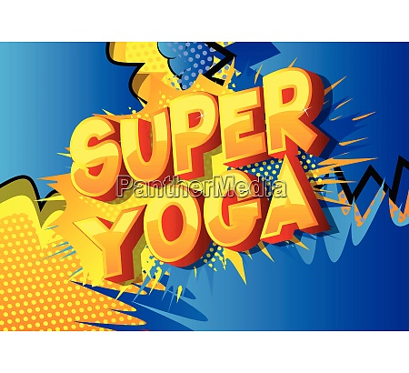 super yoga comic book style