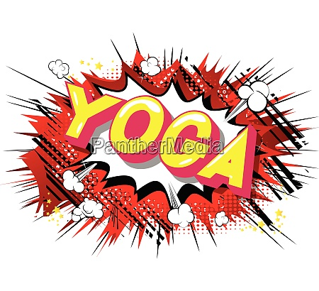 yoga comic book style phrase