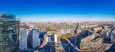 panoramic view at the city center