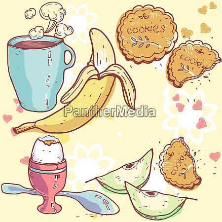vector illustration of a healthy breakfast