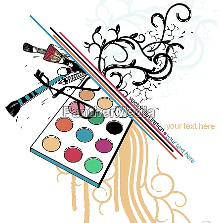vector illustration of colorful eyeshadow and